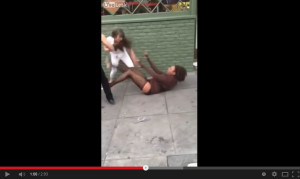 black tranny fight