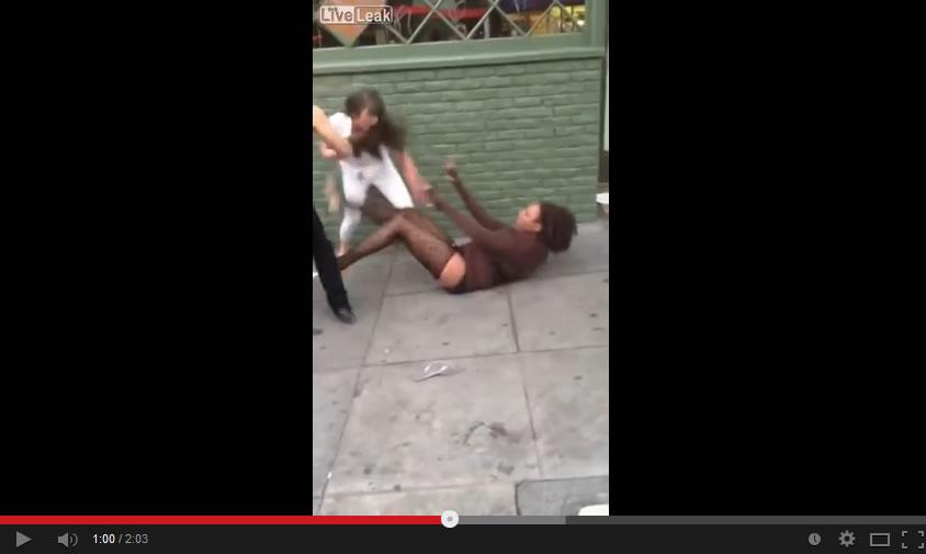 black tranny fight